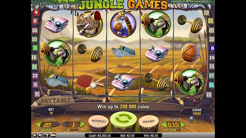Jungle Games Slot Screenshot 2