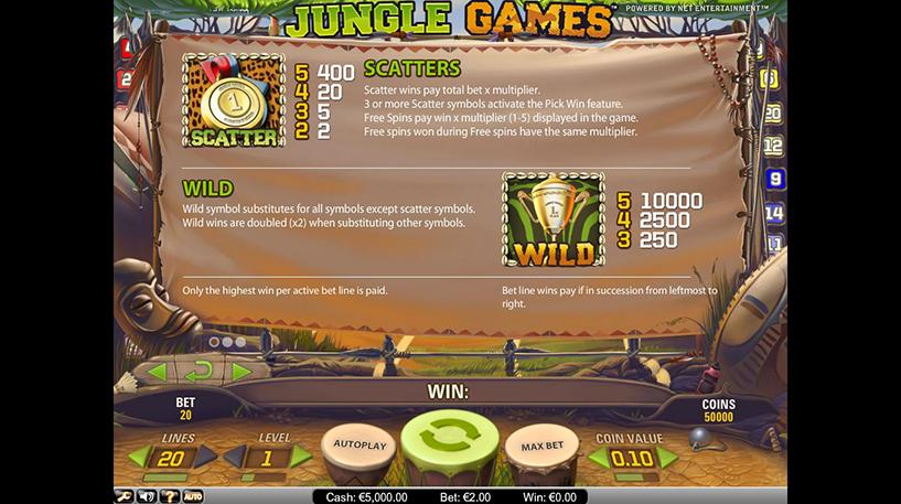 Jungle Games Slot Screenshot 1