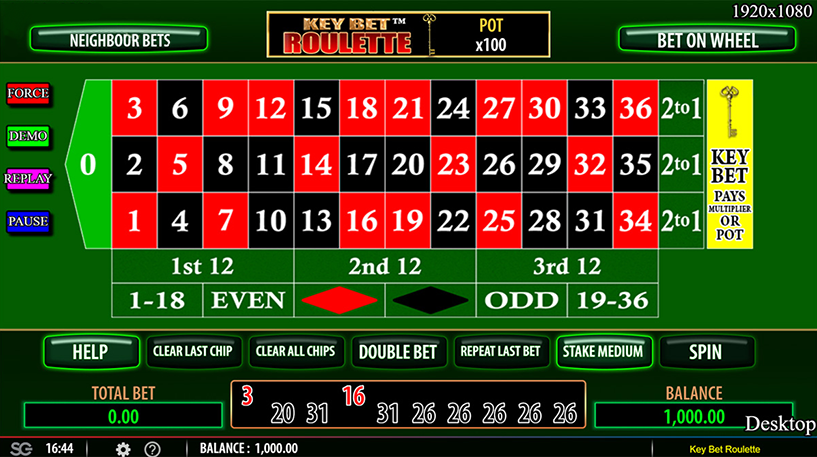 Key Bet Roulette Screenshot 1