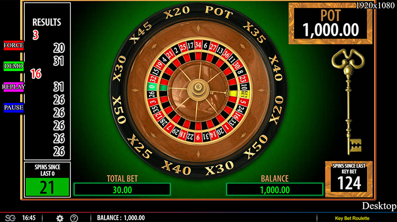 Key Bet Roulette Screenshot 2