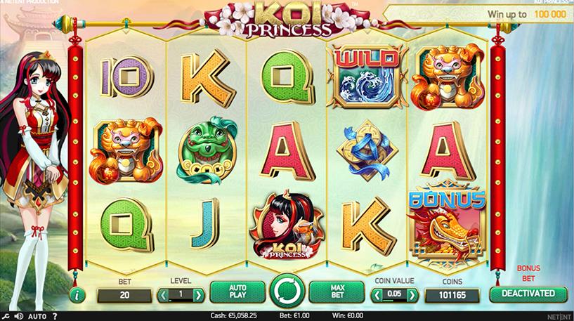 Koi Princess Slot Screenshot 2