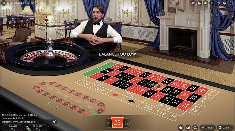 London Live Roulette Screenshot 1