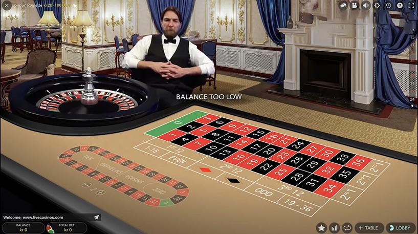 London Live Roulette Screenshot 2