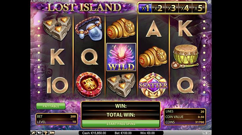 Lost Island Slot Screenshot 1