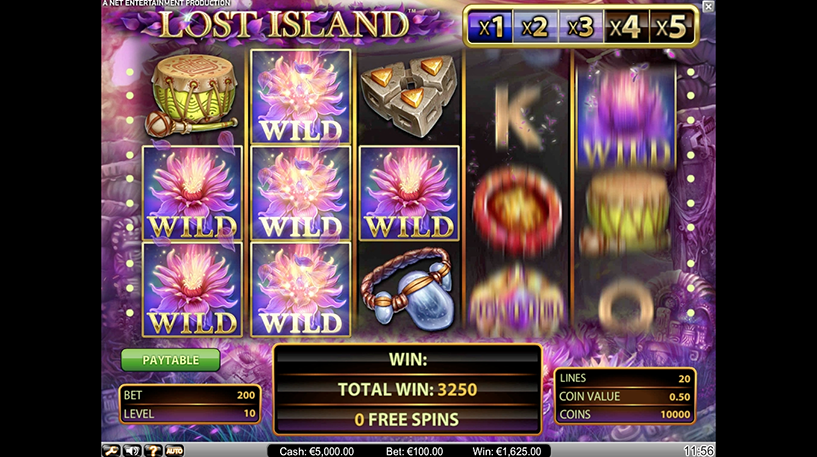Lost Island Slot Screenshot 3