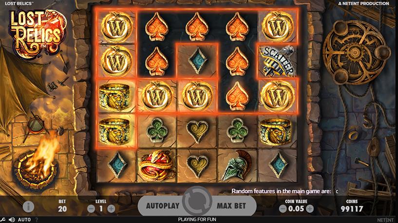 Lost Relics Slot Screenshot 3