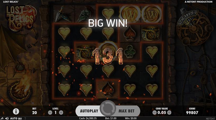 Lost Relics Slot Screenshot 2