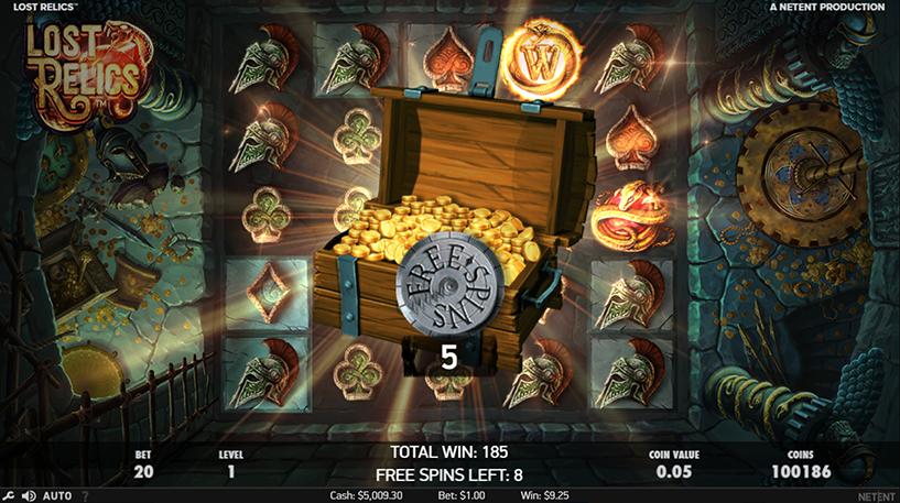 Lost Relics Slot Screenshot 1