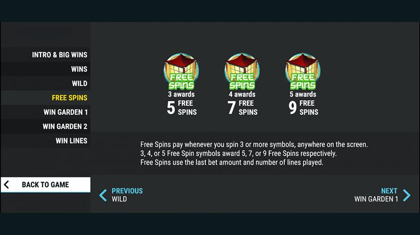 Lucky Garden Slot Screenshot 2