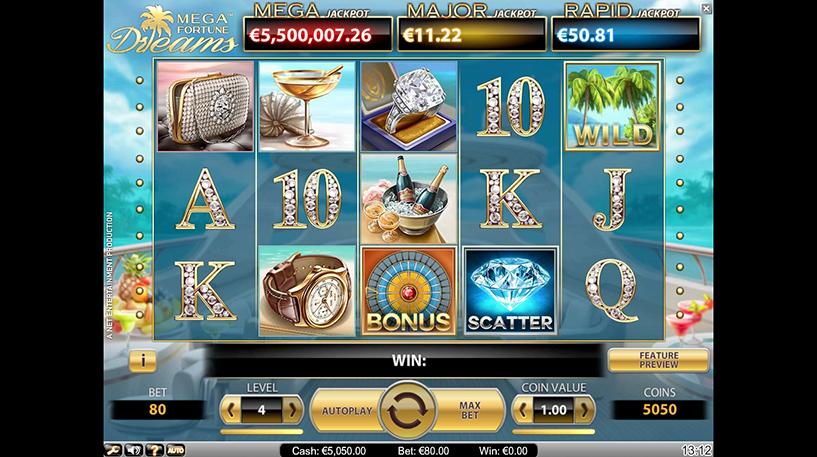 Mega Fortune Dreams Slot Screenshot 1