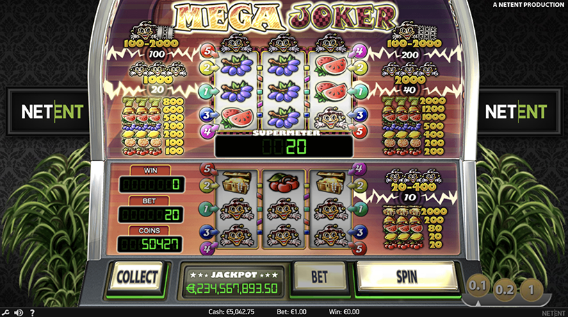 Mega Joker Slot Screenshot 1