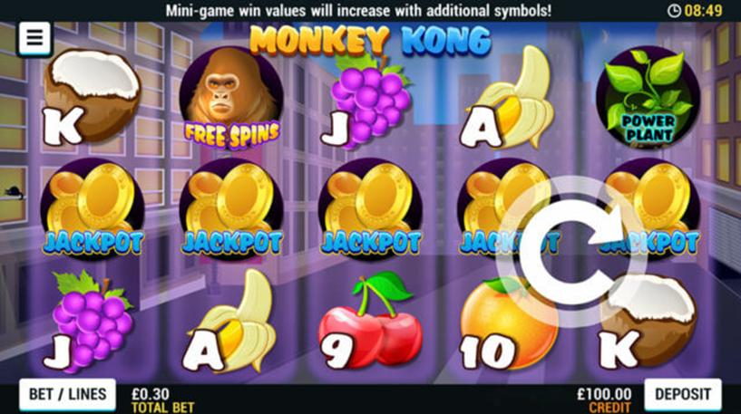 Monkey Kong Slot Screenshot 1