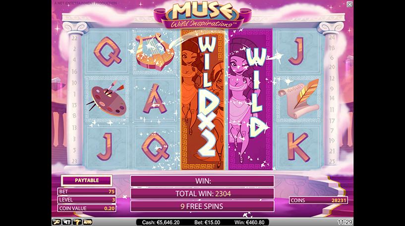 Muse: Wild Inspiration Slot Screenshot 2