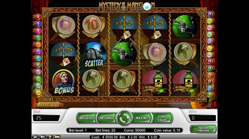 Mystery at the Mansion Slot Screenshot 1