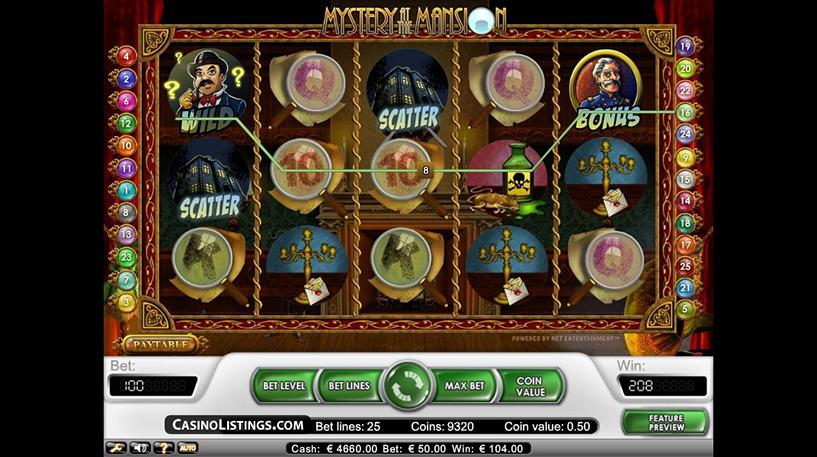 Mystery at the Mansion Slot Screenshot 2