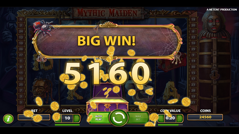 Mythic Maiden Slot Screenshot 2