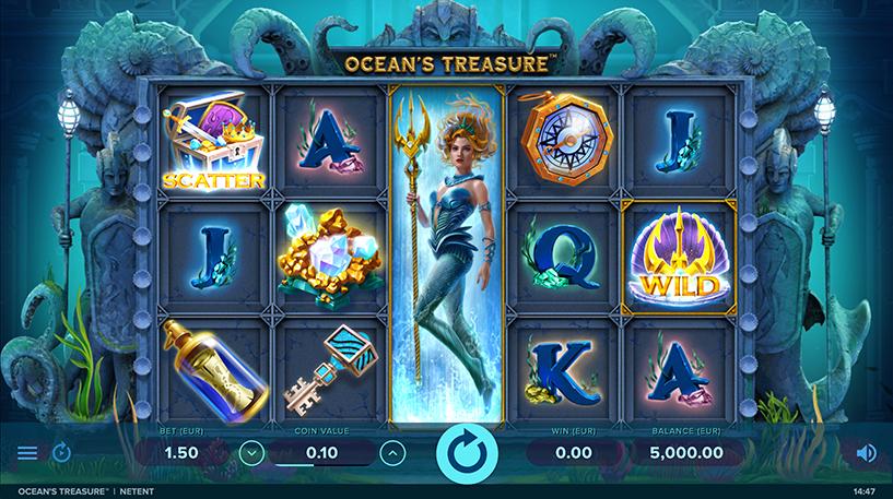 Ocean's Treasure Slot Screenshot 3
