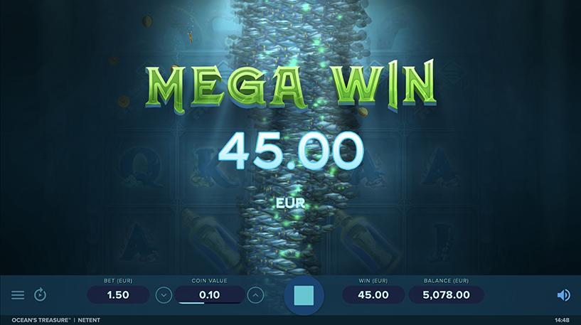 Ocean's Treasure Slot Screenshot 2