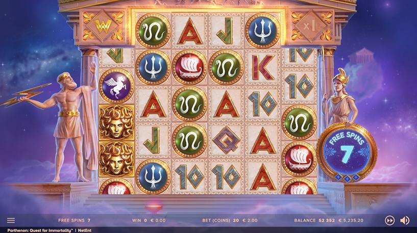 Parthenon: Quest for Immortality Slot Screenshot 1
