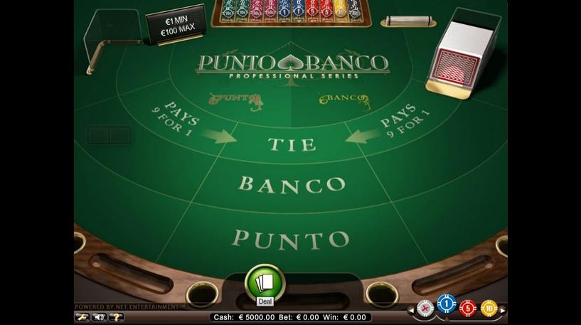 Punto Banco Pro Series Screenshot 1