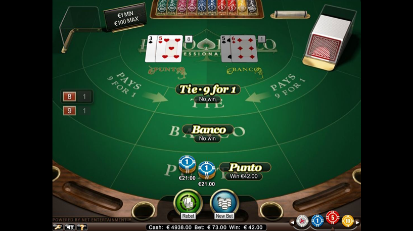 Punto Banco Pro Series Screenshot 3