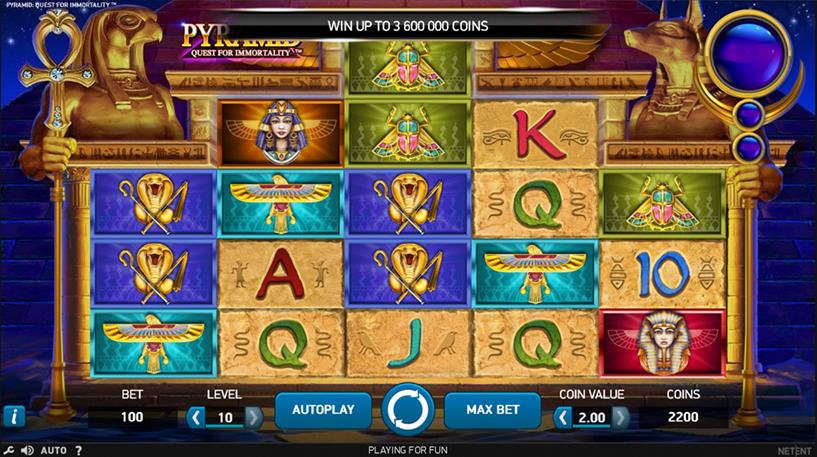 Pyramid Quest For Immortality Slot Screenshot 1