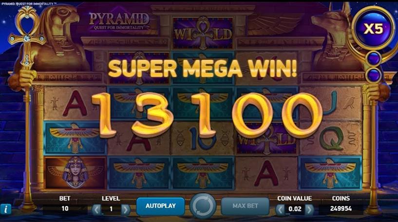 Pyramid Quest For Immortality Slot Screenshot 2