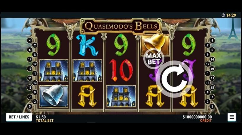 Quasimodo's Bells Slot Screenshot 1