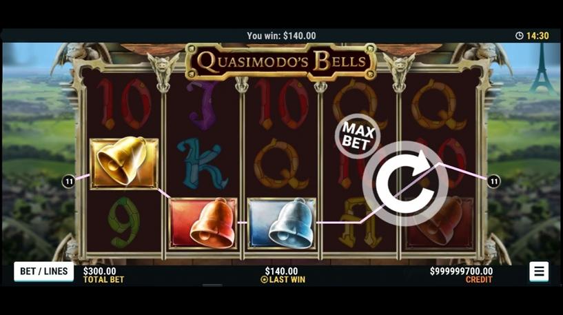 Quasimodo's Bells Slot Screenshot 3