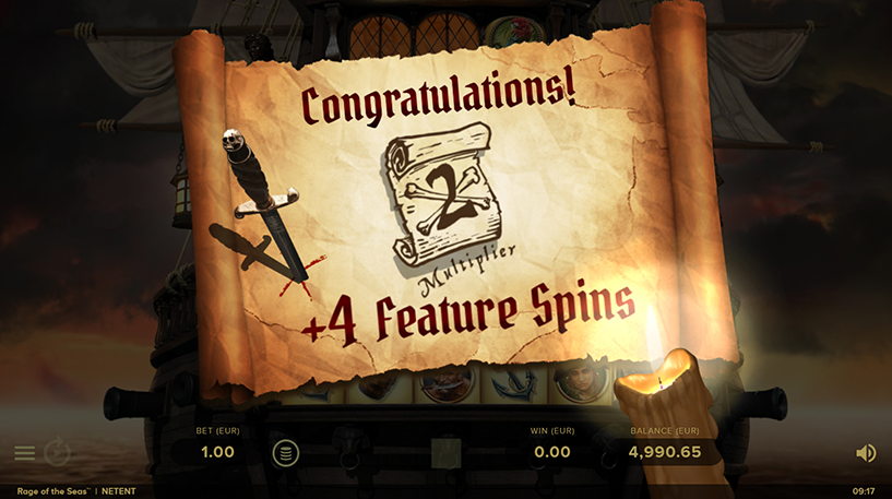 Rage of the Seas Slot Screenshot 1