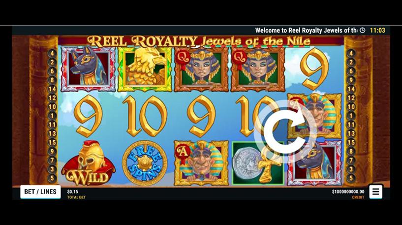 Reel Royalty : Jewels of the Nile Slot Screenshot 1