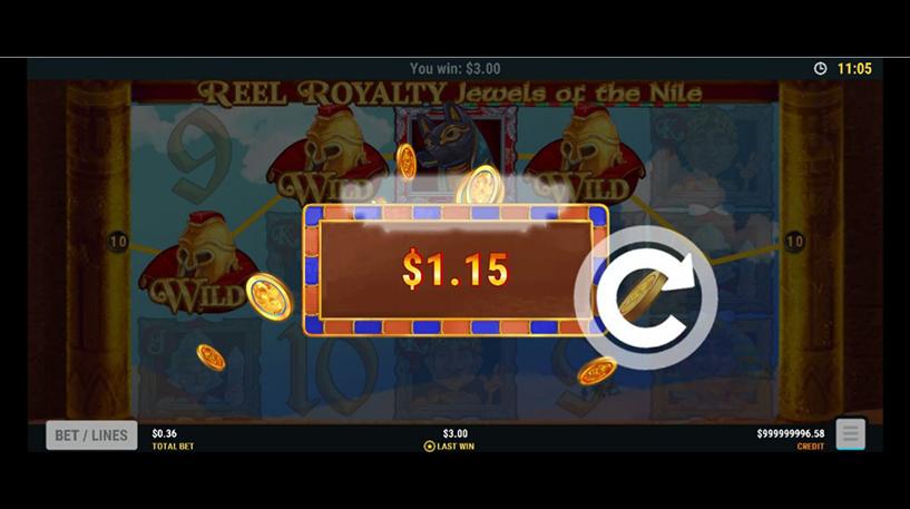 Reel Royalty : Jewels of the Nile Slot Screenshot 2