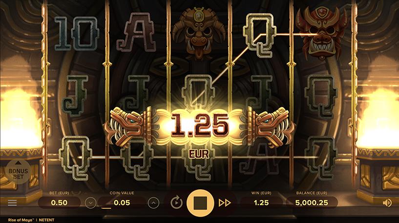 Rise Of Maya Slot Screenshot 2