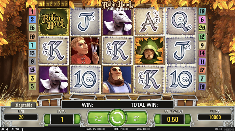 Robin Hood: Shifting Riches slot Screenshot 3