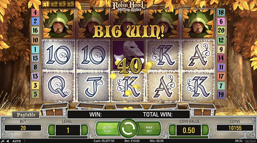Robin Hood: Shifting Riches slot Screenshot 2