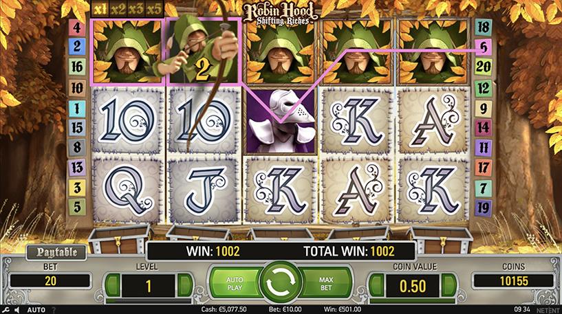 Robin Hood: Shifting Riches slot Screenshot 1