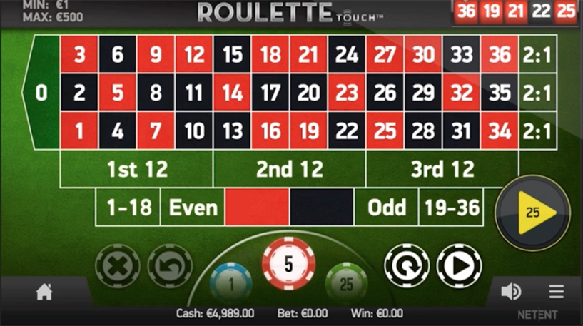 Roulette Touch Screenshot 2