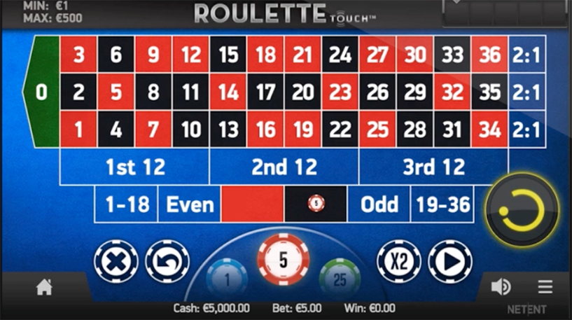 Roulette Touch Screenshot 1