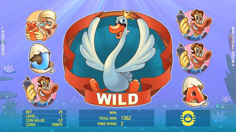 Scruffy Duck Slot Screenshot 1
