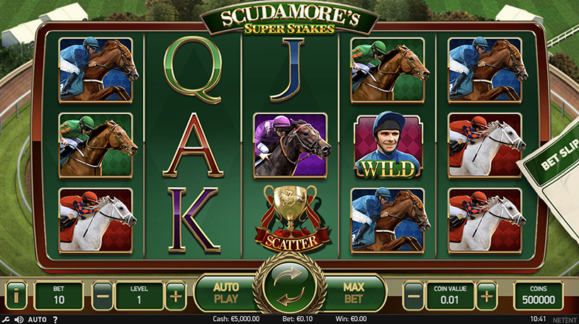 Scudamore's Super Stakes Slot Screenshot 1