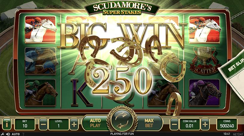 Scudamore's Super Stakes Slot Screenshot 3