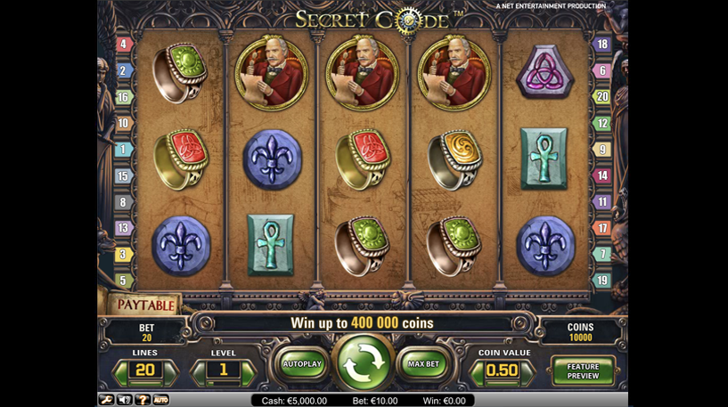 Secret Code Slot Screenshot 1