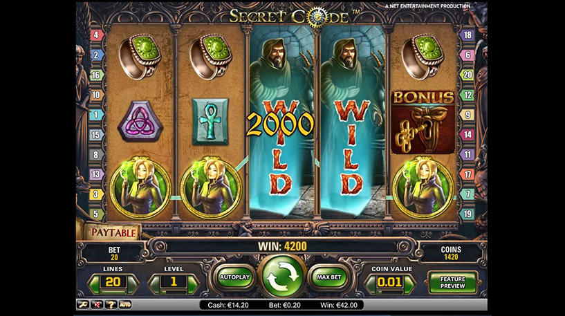 Secret Code Slot Screenshot 3