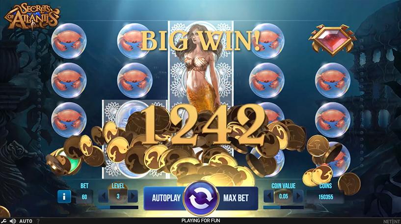 Secret of Atlantis Slot Screenshot 3