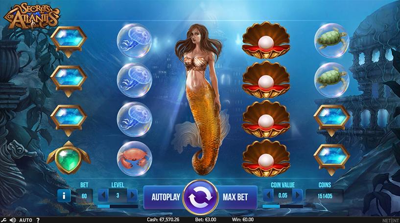 Secret of Atlantis Slot Screenshot 1