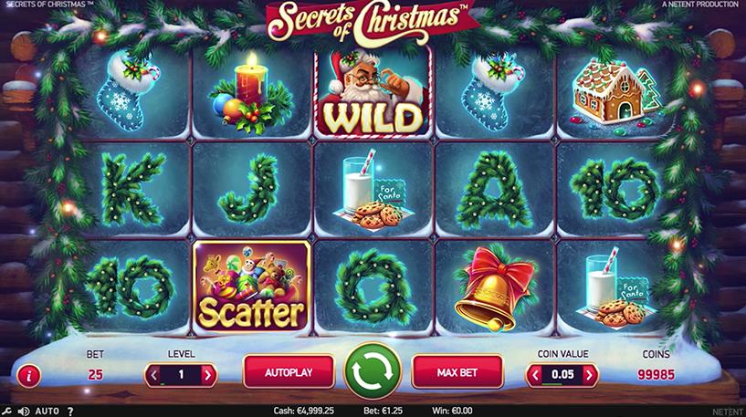 Secrets of Christmas Slot Screenshot 2