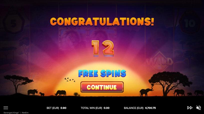 Serengeti Kings Slot Screenshot 3