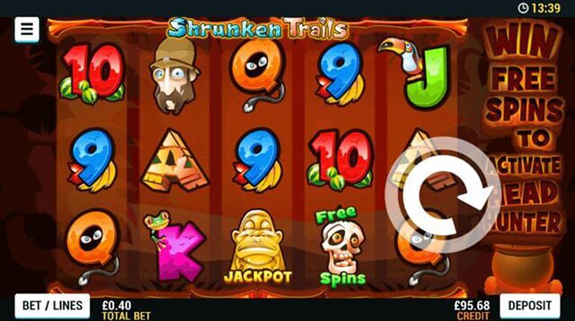 Shrunken Trails Slot Screenshot 1