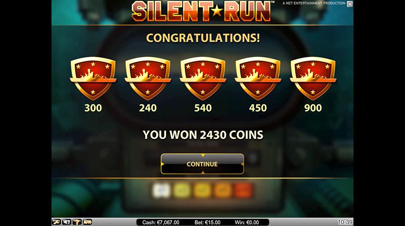 Silent Run Slot Screenshot 2