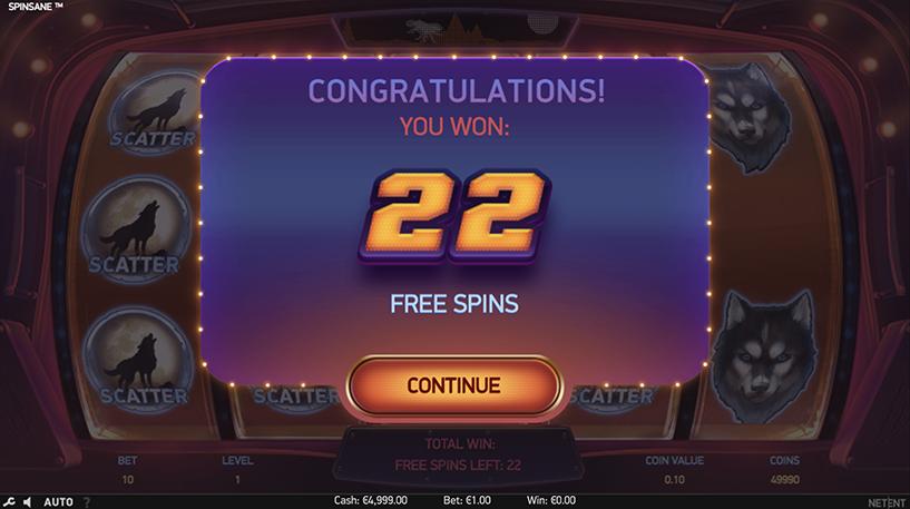 Spinsane Slot Screenshot 3